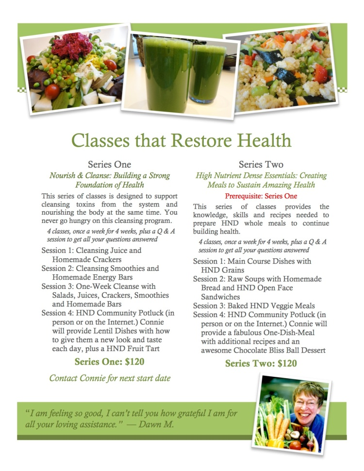Nourish & Cleanse Classes