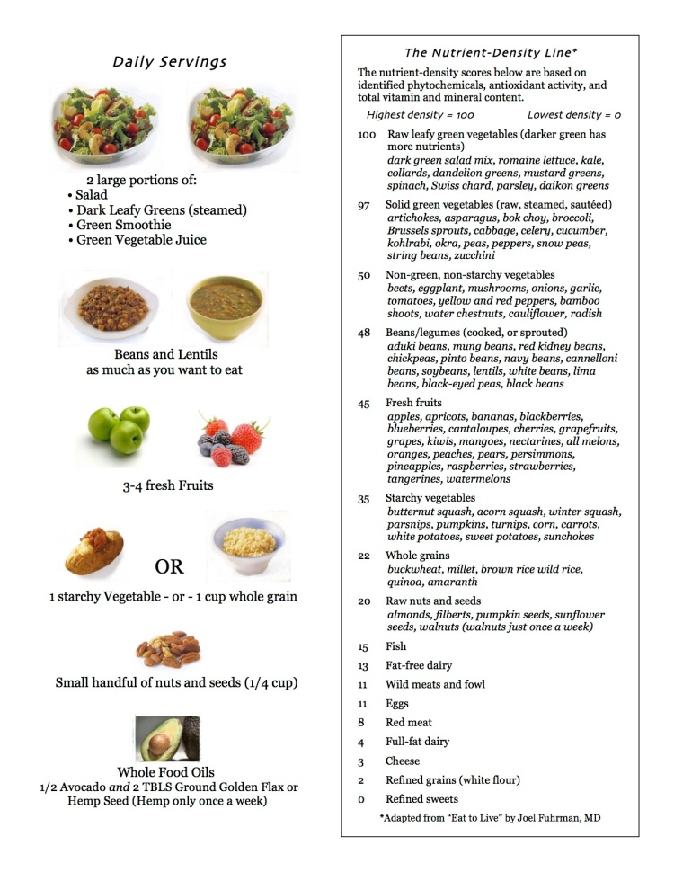 High Nutrient Dense Food Plan and List