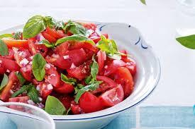 Tomato Basil Mint Salad